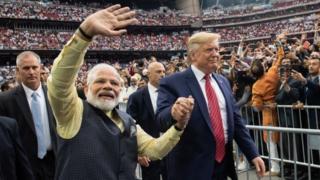 """آقای مودی گفت دونالد ترامپ """"دوستی واقعی"""" برای هند است"""