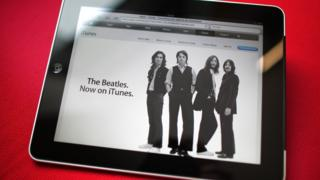 iTunes site on tablet