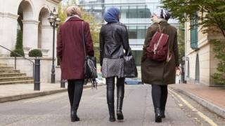 women in headscarfs in London