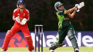 England women's team against Pakistan