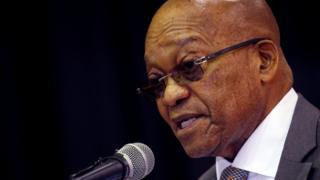 Prezida wa Afrika y'epfo Jacob Zuma