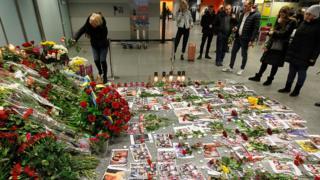 یادبود جانباختگان پرواز تهران – کییف در فرودگاه بینالمللی بوریسپیل اوکراین.