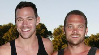 Will and Rupert Young in 2008