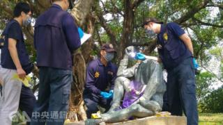 台灣知名的日本人土木技師八田與一銅像在16日被發現遭斷頭