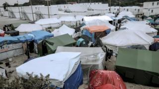 Tents at the Calais refugee camp