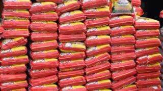 Bags of Indian rice