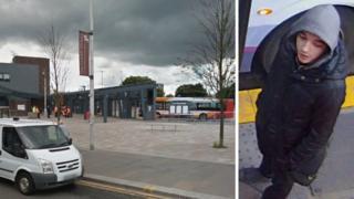 Govan bus station and CCTV image