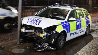 Police car collision