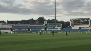 The game under way at Headingley