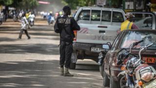 Un policier camerounais en patrouille à Maroua (archives)