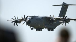 The A400 military transport plane