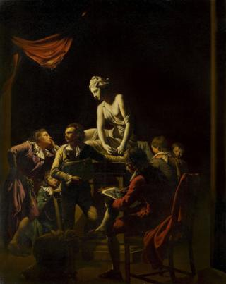 An Academy by Lamplight Joseph Wright of Derby