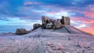 Duffus Castle, near Elgin in Moray