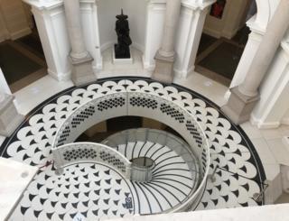 A staircase spiral