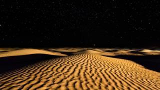 Tunus'taki Sahra Çölü'nden bir gece manzarası