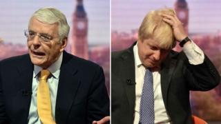 Sir John Major and Boris Johnson