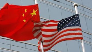 флаг Китая и США