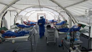 Los Ceibos field hospital, Guayaquil, 13 Apr 20