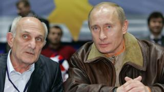 Владимир Путин и Анатолий Рахлин в 2007 году