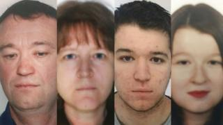 Troadec ailesi'nin kayıp fertleri Pascal, Brigitte, Sebastien ve Charlotte