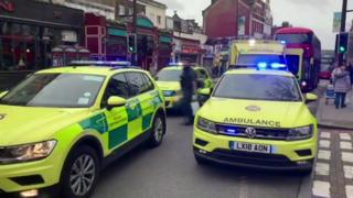 Ambulances on Streatham High Road