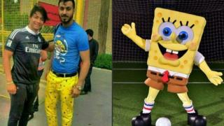 Sosha Makani and SpongeBob SquarePants