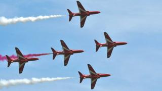Red Arrows at Cosford Air Show