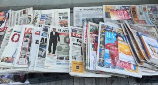 Greek newspapers in Athens