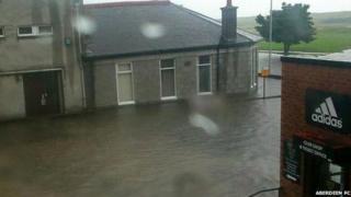 Flooding at Aberdeen FC