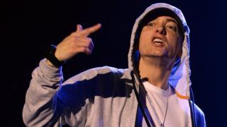 US rapper Eminem