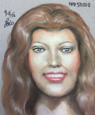 Sketch of redheaded woman whose head was found in Lake Houston