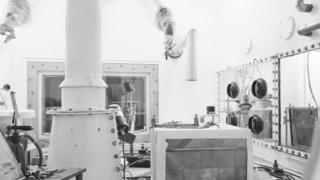 The turntable in a laboratory at Dounreay