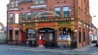 An outside view of the Hatfield Bar