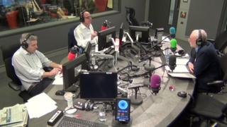 Jeremy Corbyn being interviewed on the Radio 4's Today