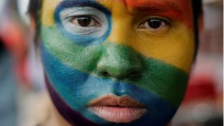 Активист ЛГБТ в Манагуа