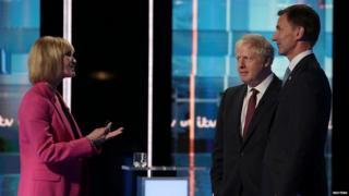 Boris Johnson and Jeremy Hunt speak to Julie Etchingham