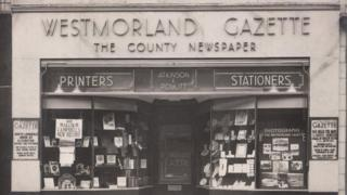 Westmorland Gazette frontage in the 1930s