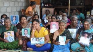 বিক্ষোভরত তামিল নারীরা