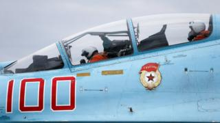 Истребитель Су-27 на авиабазе в Черняховске Калининградской области