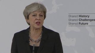 May giving her speech
