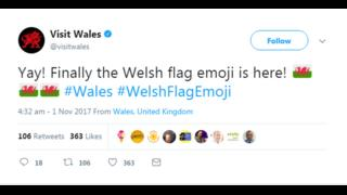 Visit Wales tweet