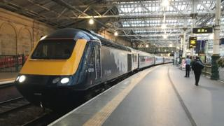 Upgraded InterCity train arrives at Haymarket