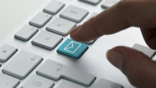 Email symbol on keyboard