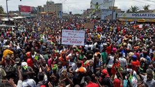 Une manifestation de l'opposition, le 6 septembre 2017, à Lomé (illustration).