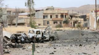 بعشيقة إحدى البلدات المجاورة للموصل التي استردتها القوات العراقية من التنظيم