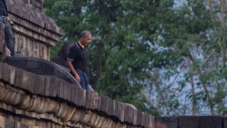 Obama, Borobudur