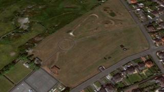 Holyhead Park, aerial