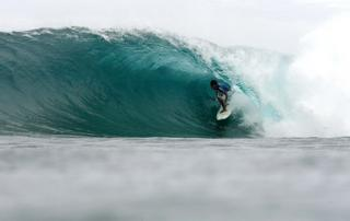 Edito Alcala of the Philippines competes on his way to winning the Billabong Cloud 9 Invitational on September 27, 2008 at Siargao Island, Surigao Del Norte, the Philippines.