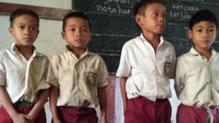 murid di desa Sungkung