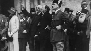 Arthur Balfour em Jerusalém em 1925